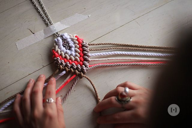 .. DIY ROPED MACRAME NECKLACE « a pair & a spare ..