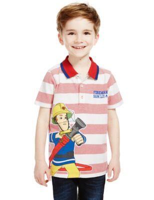 Pure Cotton Fireman Sam™ Polo Shirt (1-6 Years) | M&S