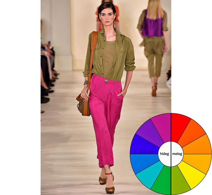 Ütős színkombinációk. Színkontrasztok az öltözködésben. Hideg-meleg kontraszt.