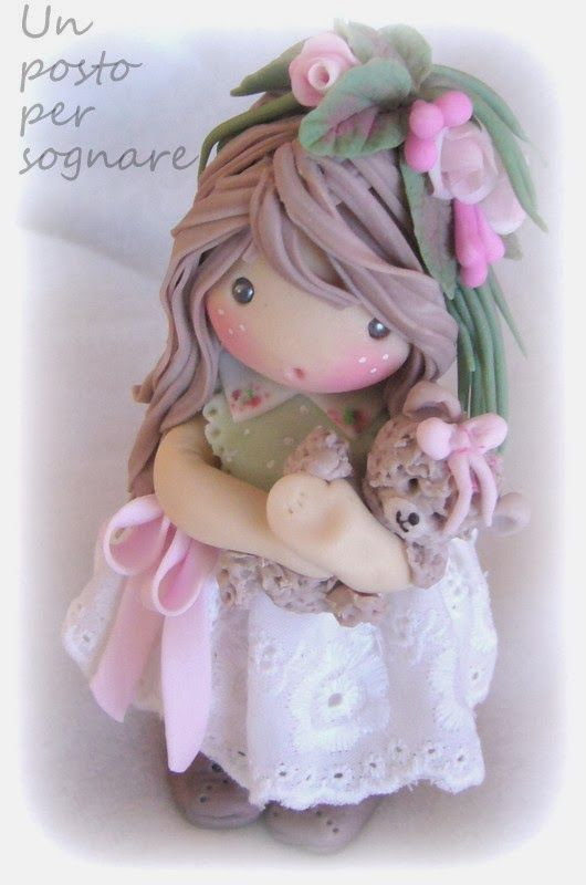 Polymer clay detailed doll
