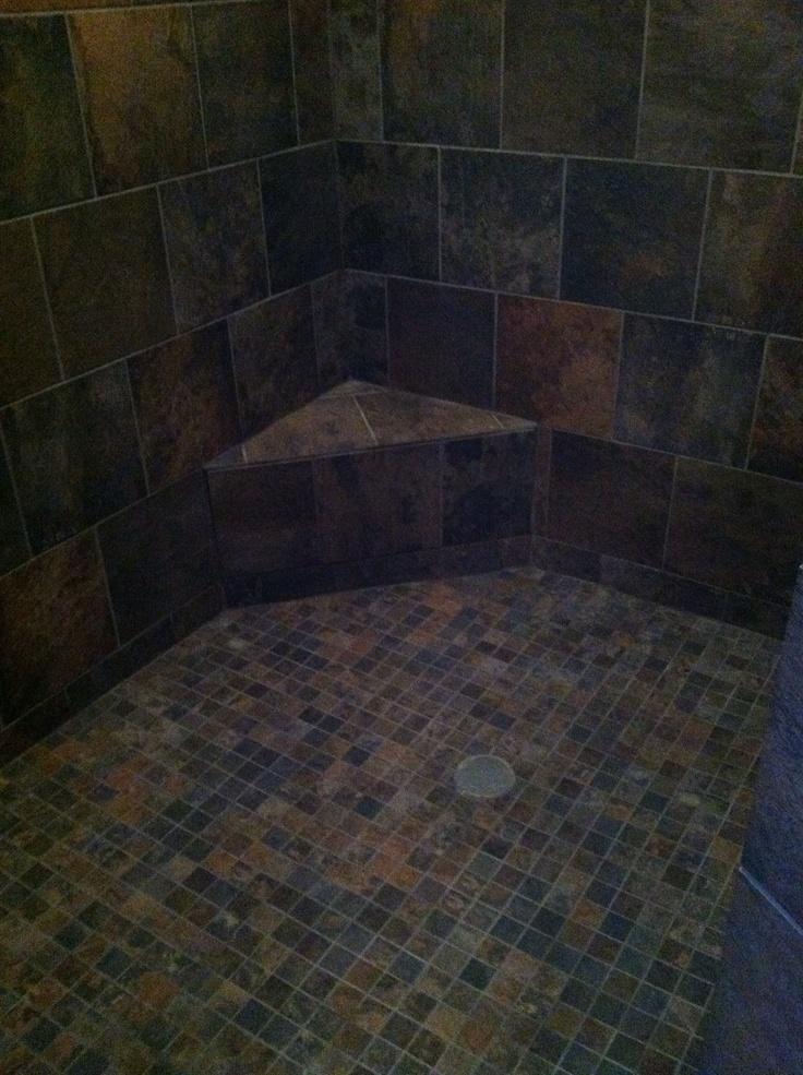 Aspen sunset tile done my bathroom in aspen sunset love it interior ideas pinterest - Basement floor tile ideas ...