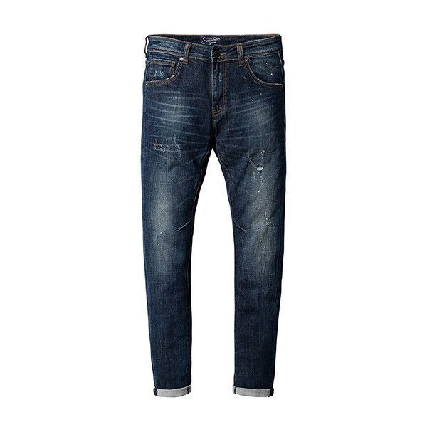 New Autumn Winter jeans men fashion hole denim trousers brand clothing pants