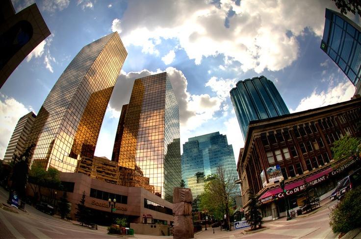 Beautiful view of #Edmonton #Alberta Canada. #Canada #City #downtown