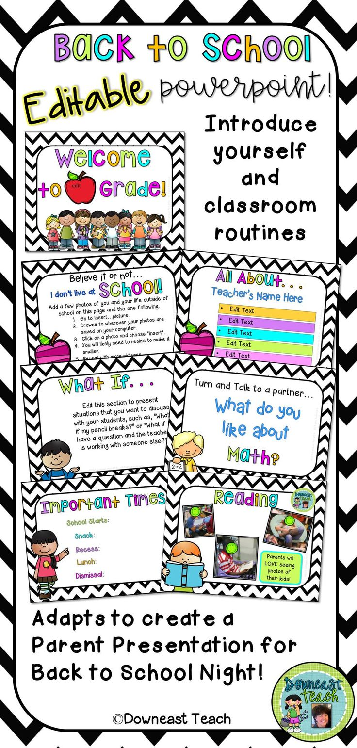 This editable 78-page PowerPoint has lots of options to use to introduce yourself and your classroom procedures and expectations. It then adapts for use with families at Open House or Back to School Night!