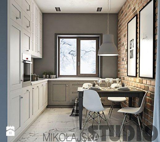 Aranżacje wnętrz - Kuchnia: kuchnia vintage-projekt - MIKOŁAJSKAstudio. Przeglądaj, dodawaj i zapisuj najlepsze zdjęcia, pomysły i inspiracje designerskie. W bazie mamy już prawie milion fotografii!