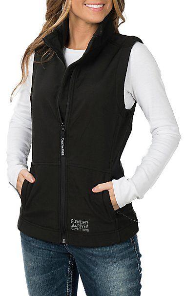 Powder River Outfitters by Panhandle Women s Black Bonded Vest  b50d245e8c