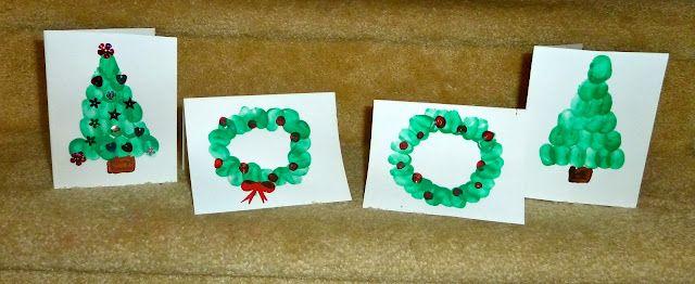 Christmas Craft: Fingerprint Homemade Cards