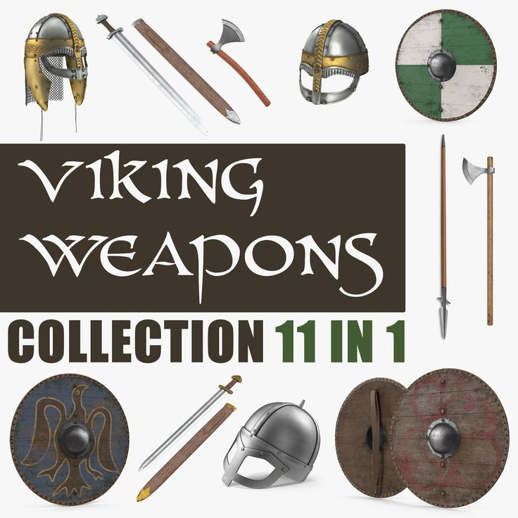 3D Viking Weapons Collection model