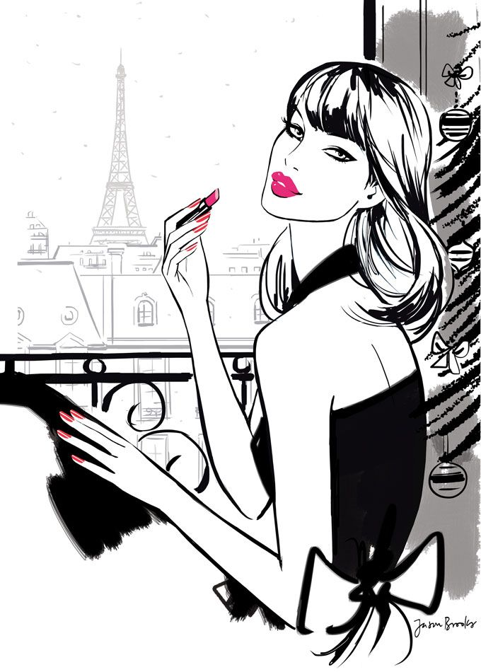 Revlon makeup illustration | ... Cosmetics ∙ Publishing ∙ Editorial ∙ Travel ∙ Transportation