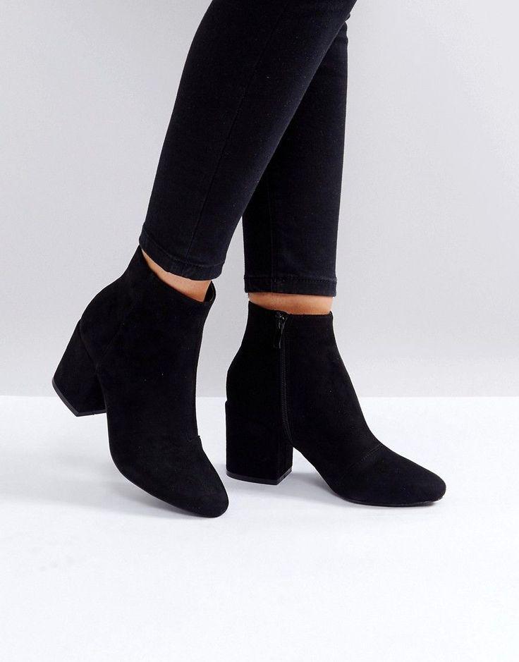 RAID Kola Block Heeled Ankle Boots - Black