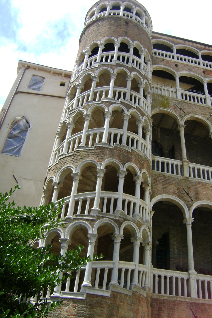spiraling stairs Italy