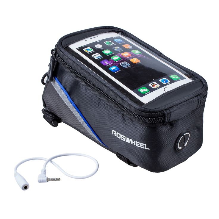 Good deal Roswheel 5.5 inch bicycle bag bike bag for Samsung iPhone and other smart phones of 5.5 inch - Blue