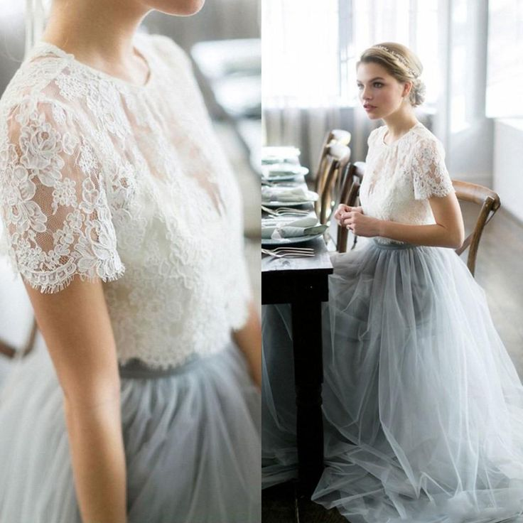 Find More Wedding Dresses Information about Vintage 2017 Wedding Dresses Beach Bohemian Lace Tulle Bridal Gowns Sheer Neck Two Piece Pale Blue Colored Guest Party Gowns,High Quality gown bride,China gown women Suppliers, Cheap gowns for pregnant women from Suzhou Wedding Love Store on Aliexpress.com