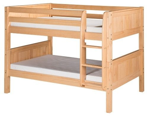 Camaflexi Panel Headboard Twin over Twin Low Bunk Bed - Bunk Beds & Loft Beds at Hayneedle