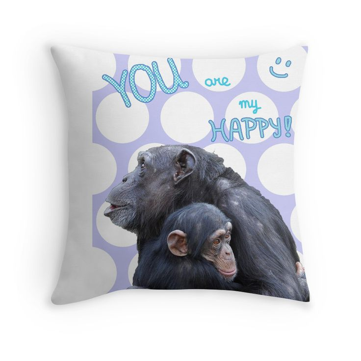 You are my HAPPY! (purple) - cool for girls room, jungle theme, monkey