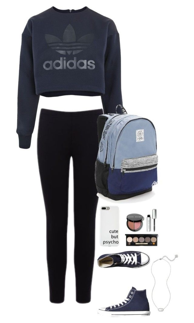 """""""❤️"""" by ava-s-frederiksen on Polyvore featuring adidas, Warehouse, Converse, Bobbi Brown Cosmetics, Victoria's Secret and Kendra Scott"""