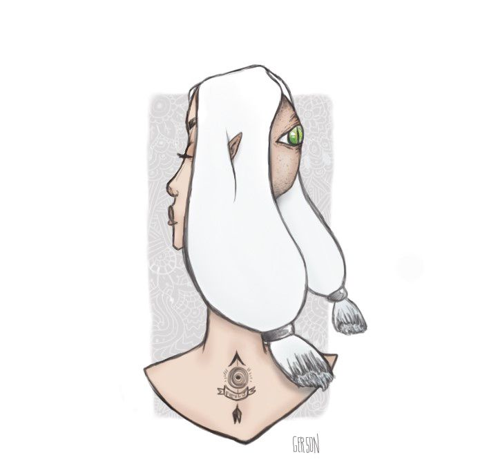 #Illustration #draw #fantasy #witch #tatto