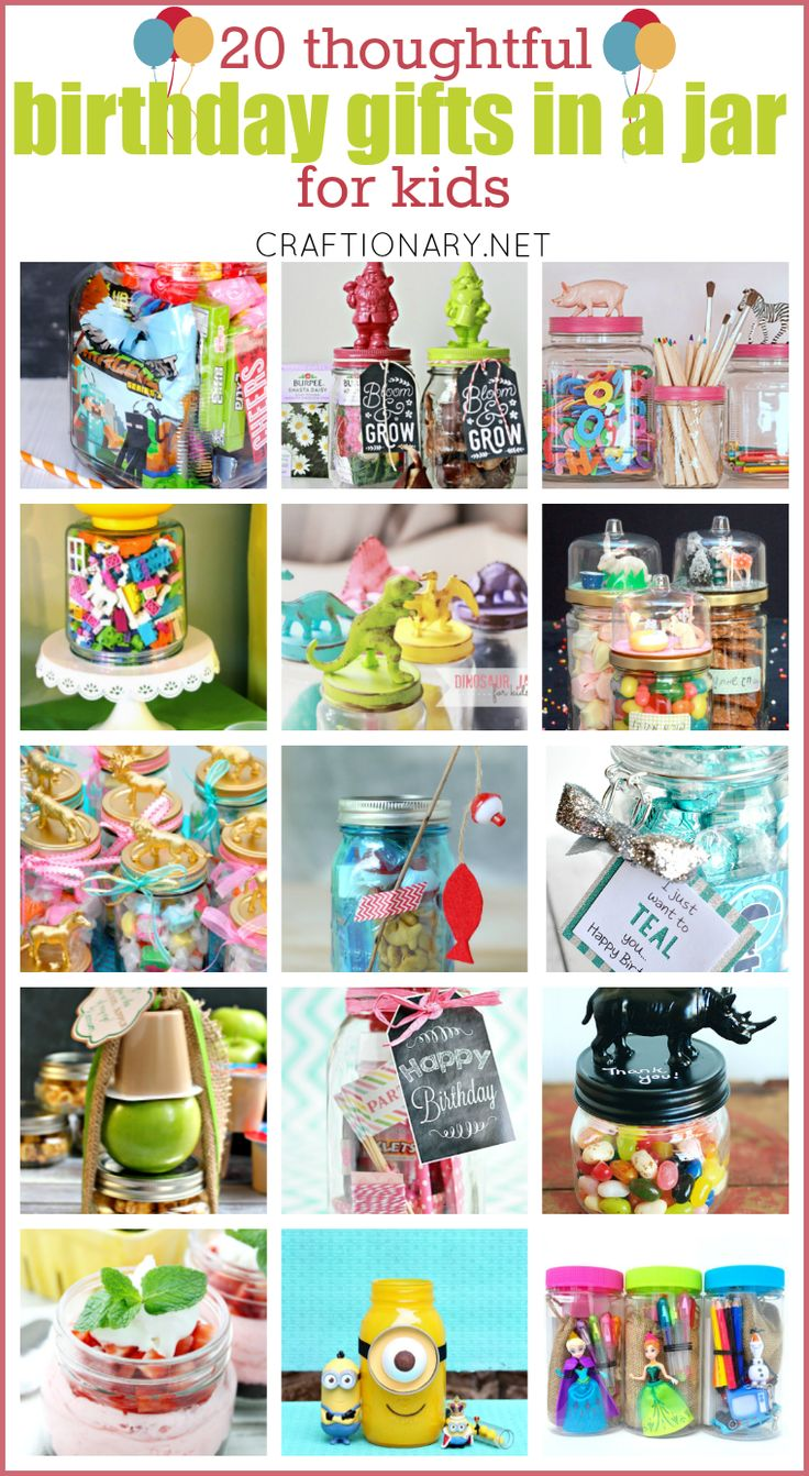 Get inspired by these thoughtful birthday gifts in a jar for kids and make special gifts. Birthday gift ideas include edible gifts, toys, gift cards & more.