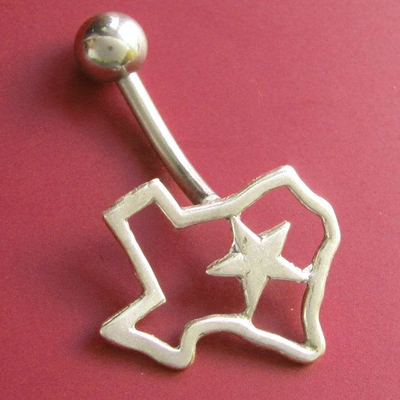 Texas Love Belly Button Ring by sudlow on Etsy, $50.00 - If I pierced my bellybutton, no other ring would be acceptable