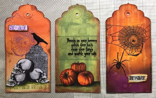 PaperArtsy: 2017 #14 Glitter: Happy Halloween with HP {by Corrie Herriman}