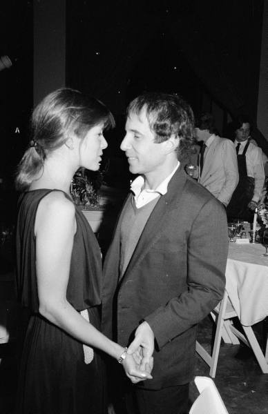 Carrie Fisher and Paul Simon - April 1981