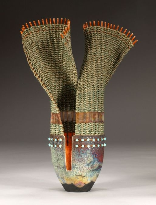 Incredible ceramic and basketry duo.