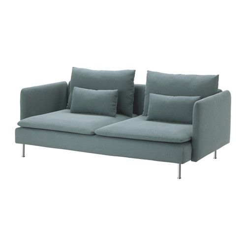 IKEA - SÖDERHAMN, Sofa, Finnsta turquoise, , Durable microfiber which is soft and smooth.SÖDERHAMN seating series allows you to sit deeply, low and softly with the loose back cushions for extra support.The cover is easy to keep clean as it is removable and can be machine washed.The various sections of the seating series can be connected together in different combinations or used separately.You can sit in comfort with a slight, pleasant resilience thanks to the elastic weave in the bottom…