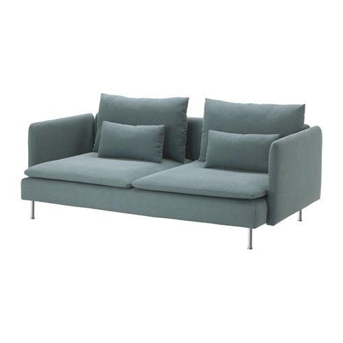 SÖDERHAMN Canapé 3 places IKEA Tissu en microfibres résistant à l'usure, au toucher doux et lisse.