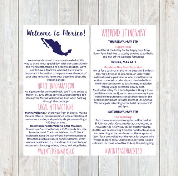 25 Cute Destination Wedding Itinerary Ideas On Pinterest