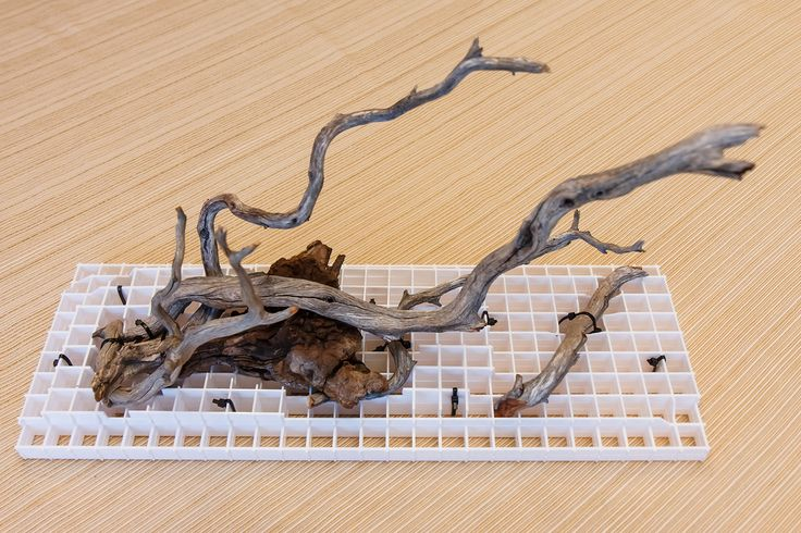 How to Aquascape using Driftwood and Plastic Light Grid (EggCrate)