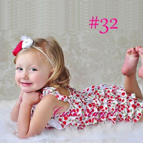 Cute Princess Red Green Cherry Print Romper Jumpsuit Fits 12-36 Months | fantasyforU - Clothing on ArtFire