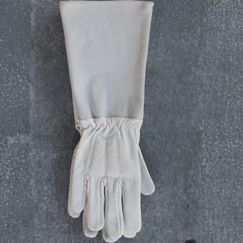 Gardening gloves, leather, long