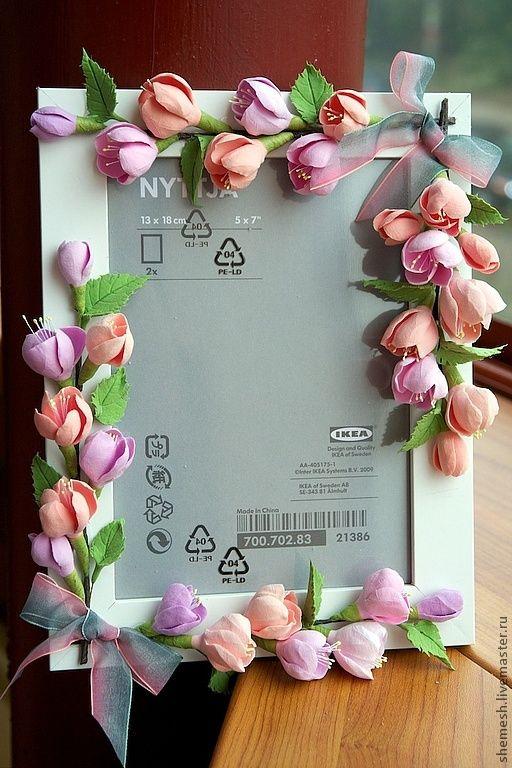 Купить Фоторамка с цветами яблони - розовый, яблоня, яблоневый цвет, рамка, фото, фотография, фоторамка