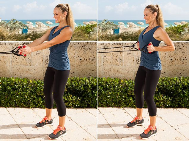 Standing Row to open up chest and improve posture. #workout @Jessica Smith Gomez http://www.ivillage.com/get-relief-back-pain-now/4-a-515186#