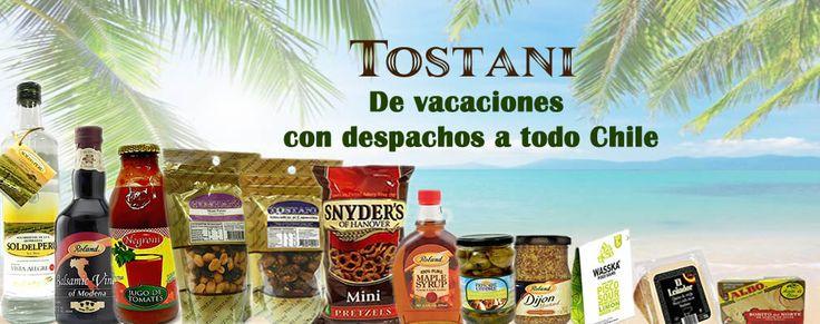 Aunque estes de vacaciones no te olvides del sabor. En Tostani despachamos a todo Chile.  #tostani #vacaciones #sabor #productosimportados #distribuidoraarenillas #elmejordistribuidor