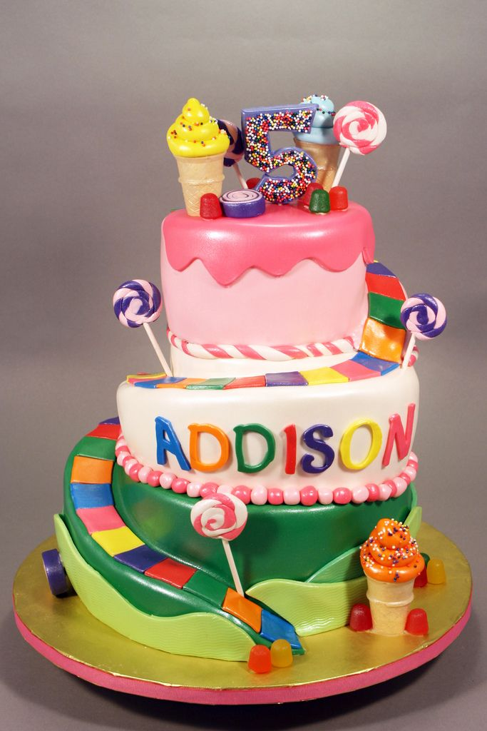 lovely candy land party cake google search