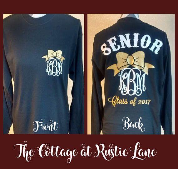 1 Senior Shirt Graduation Long Sleeve Shirt by CottageatRusticLane