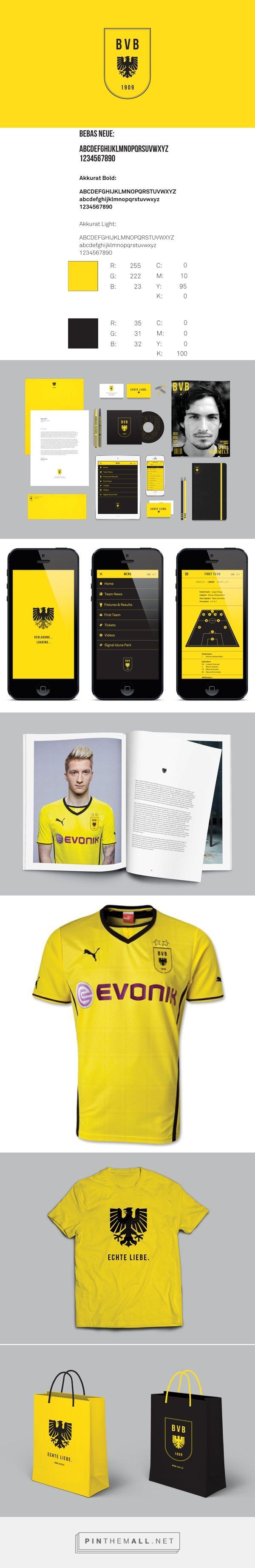 identity / Borussia Dortmund Rebrand on Branding Served - created via http://pinthemall.net