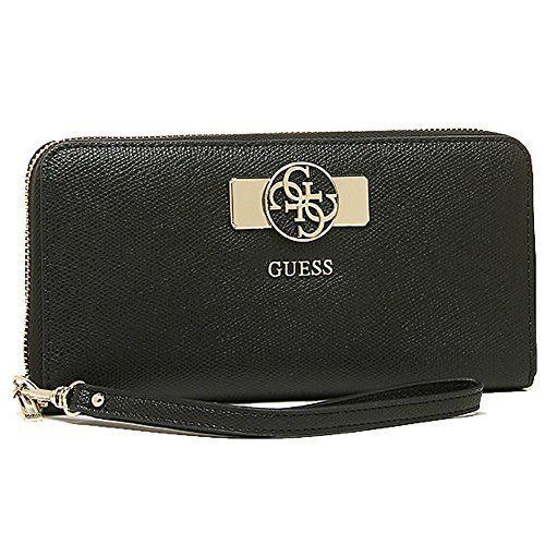 GUESS, Damen Geldbörsen, Börsen, Portemonnaies, Brieftaschen, Schwarz, 20,5 x 10 x 3 cm (B x H x T)