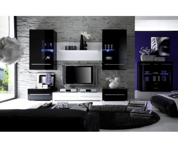 deco salon design noir. Black Bedroom Furniture Sets. Home Design Ideas