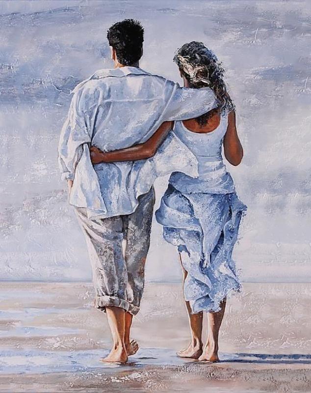 Муж и жена рисунки любовь