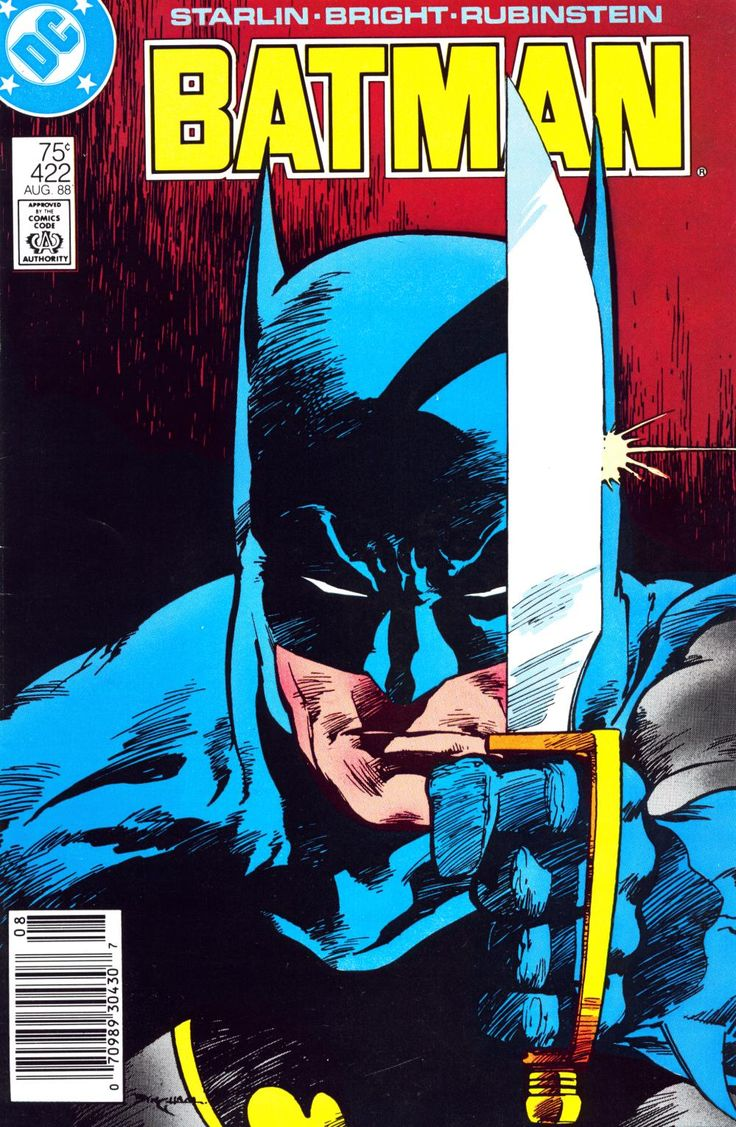 Batman #422 (August 1988) -Cover by Jerry Bingham