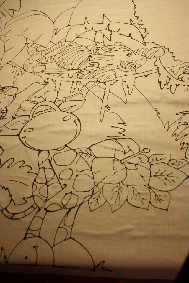 Sfondo dipinto a mano per una festa tema giungla molto specialeeee!