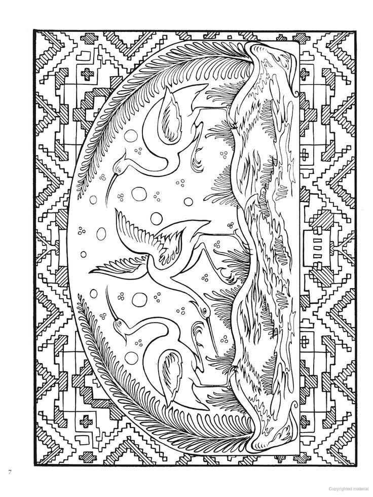 Creative Haven Mexican Folk Art Coloring Book Mexican