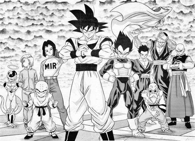 Universe 7 Tournament Of Power Team Manga Dragon Ball Super Manga Dragon Ball Dragon Ball Art