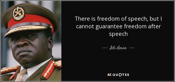 "Discover Idi Amin famous and rare quotes. Share Idi Amin quotations about law and order, country and boxing. ""There is freedom of speech, but I cannot..."""