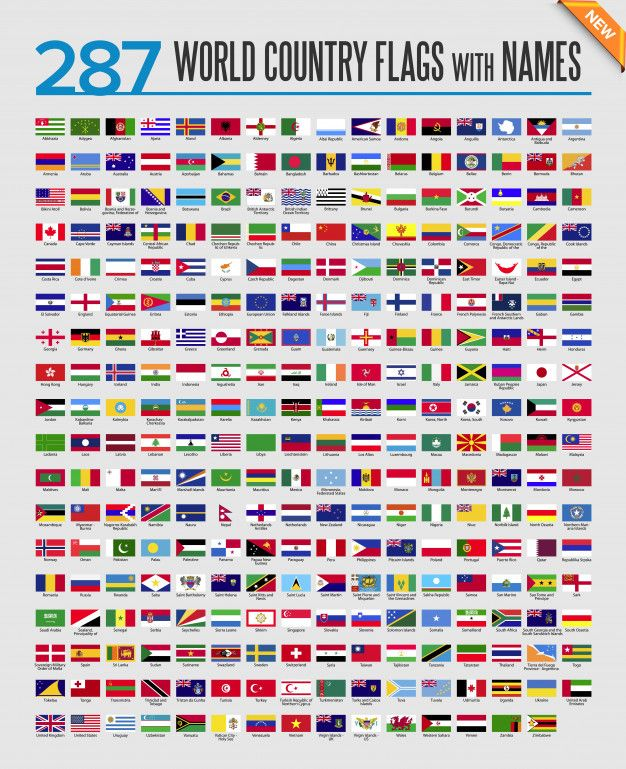 All The Flags Of The World And Their Names World Flags Icon Set World Country Flags Flags Of The World World Flags With Names