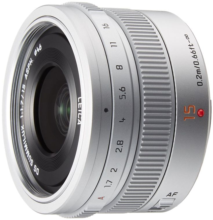 Panasonic LEICA DG SUMMILUX 15mm / F1.7 ASPH. H-X015 -S (Silver) - International Version (No Warranty)