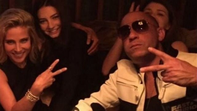 Meadow Walker spent time with Vin Diesel and Elsa Pataky.