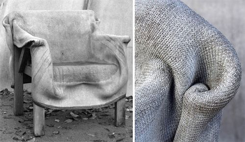 Concrete Cloth - A flexible fabric impregnated with a special pre-mixed cement that hardens when it's hydrated. So not only does it make creating irregularly shaped items out of concrete a lot easier, like say shelters, ditches, retaining walls, pond linings and chairs, but unlike a regular concrete mix you can't use too much water, so it's idiot-proof as well.